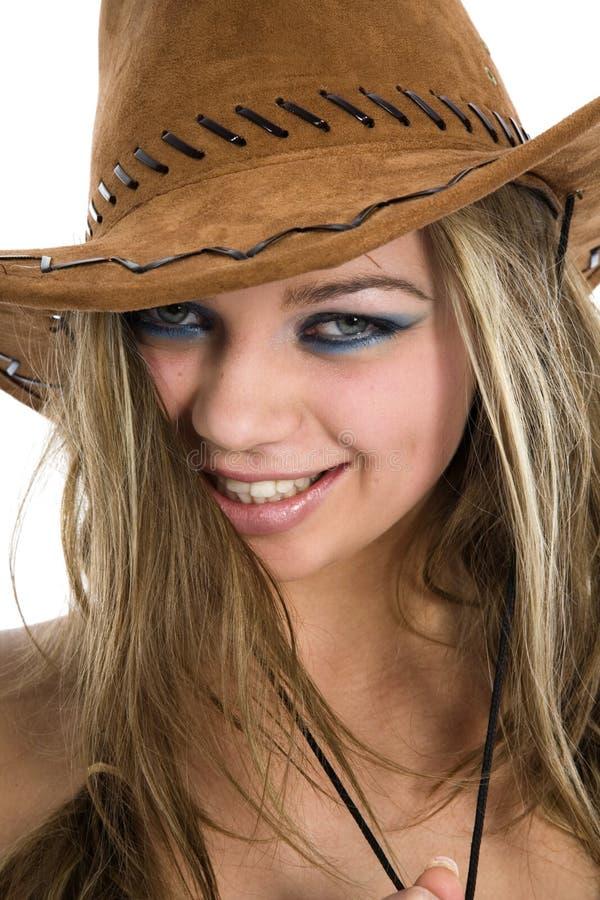 sexig cowboy royaltyfri foto