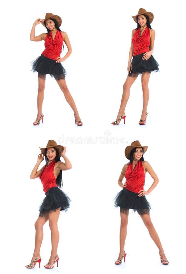 sexig cowboy royaltyfri fotografi