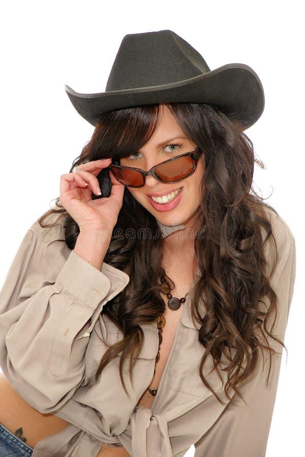 sexig cowgirl arkivbilder