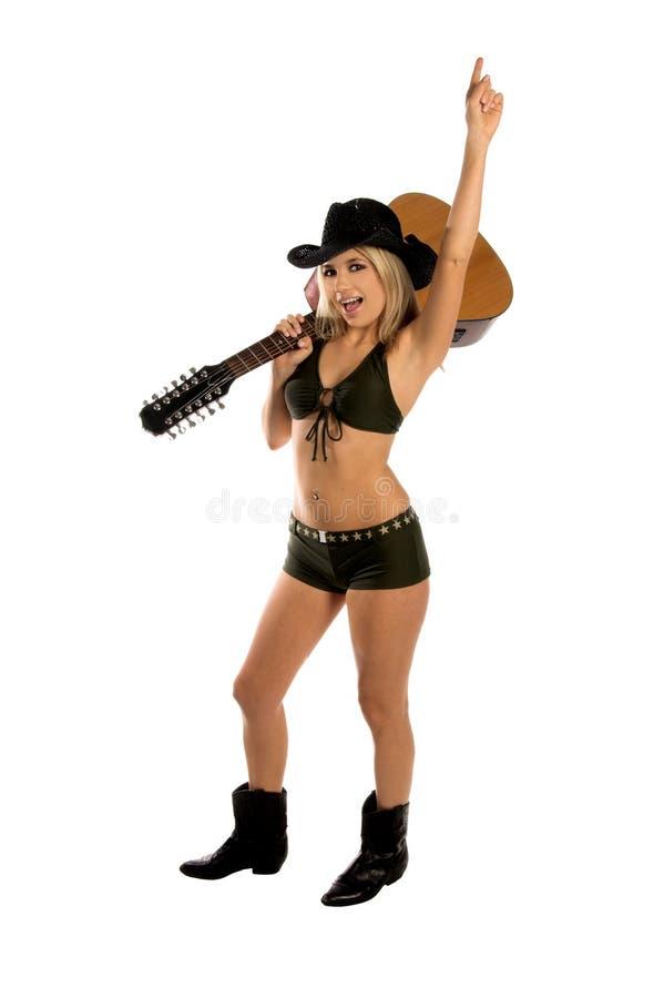 sexig cowgirl royaltyfri bild