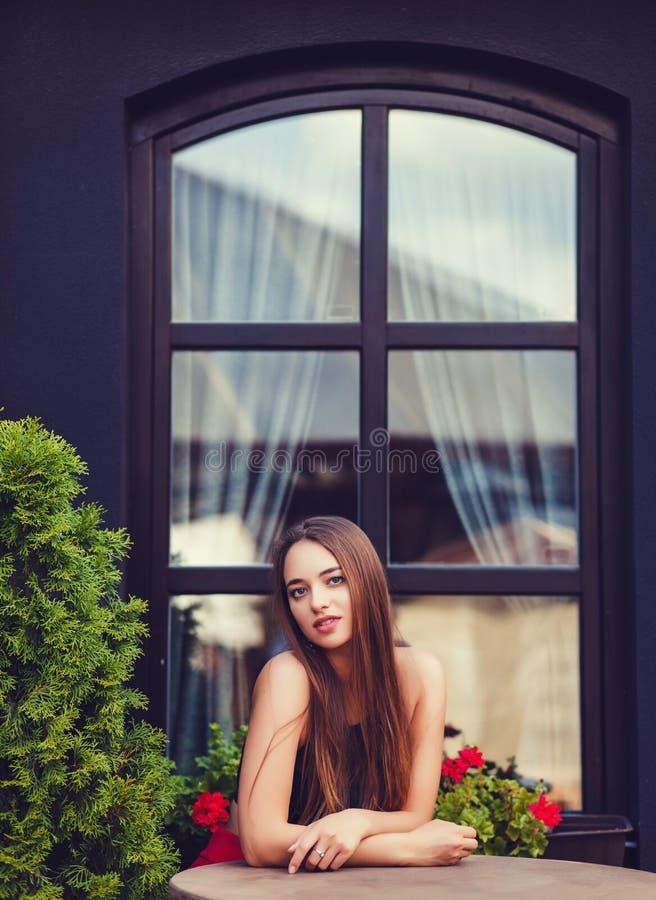 Sexig dam för skönhet royaltyfri bild