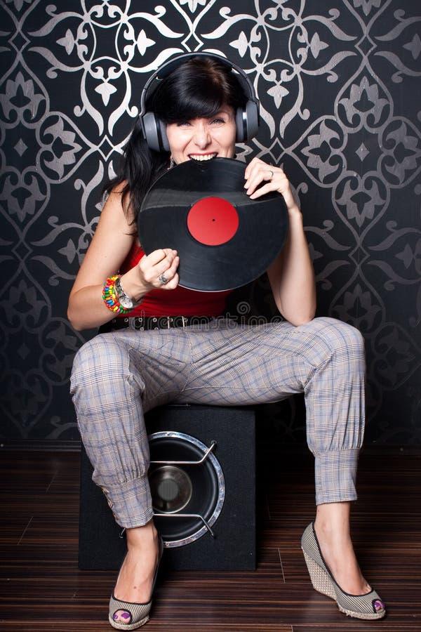 Sexig DJ royaltyfri foto