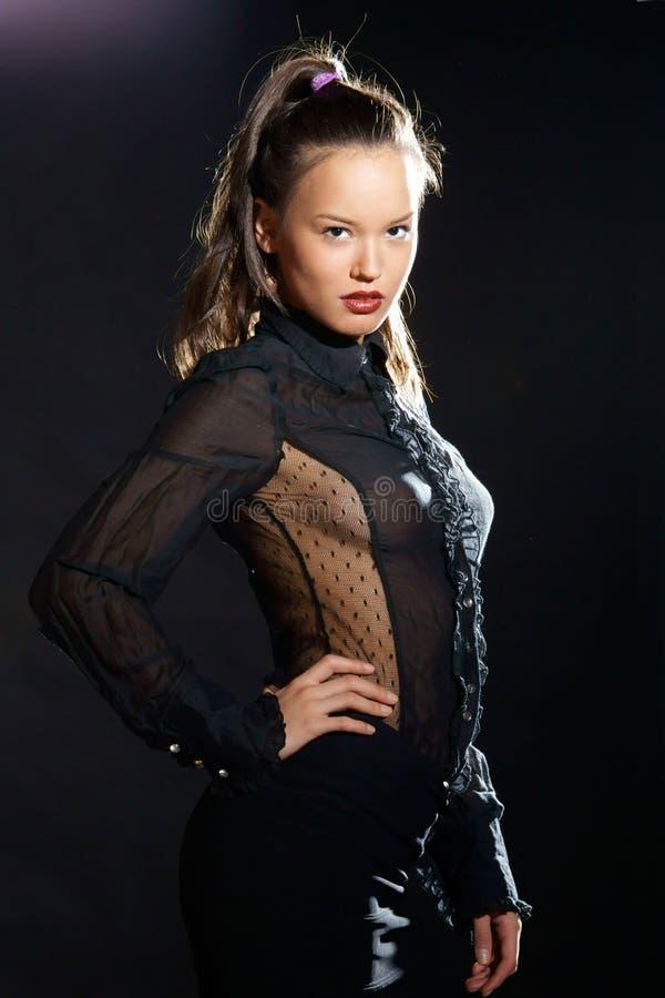 sexig elegant lady royaltyfri fotografi