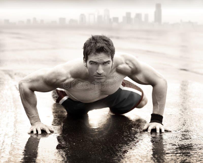 Sexig fitman fotografering för bildbyråer