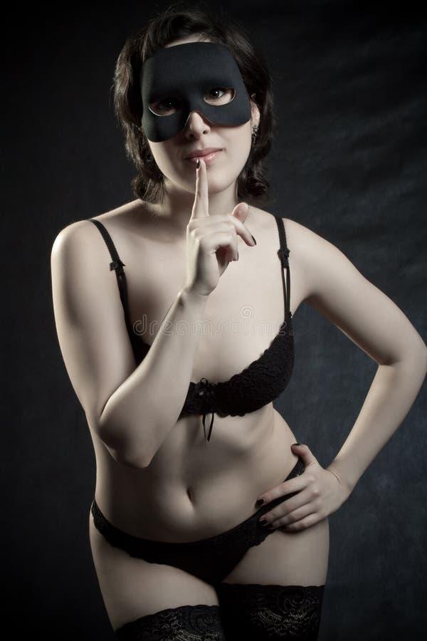 sexig flickamaskering arkivbilder