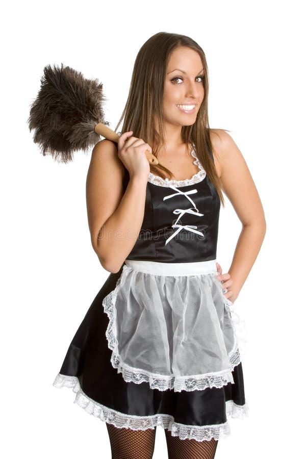 sexig fransk maid arkivfoton