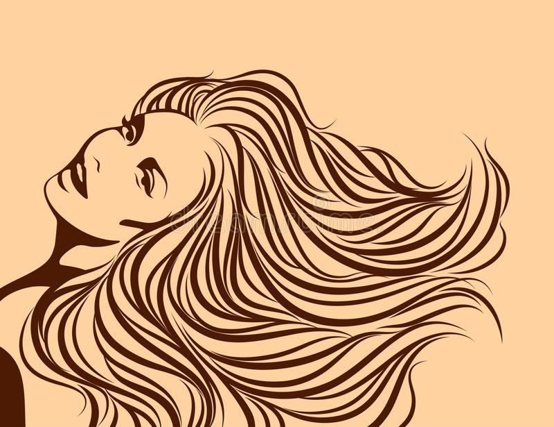 sexig härlig flicka royaltyfri illustrationer