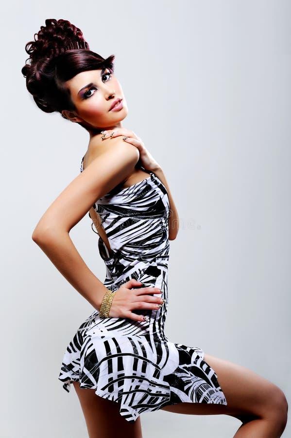 sexig härlig flicka fotografering för bildbyråer