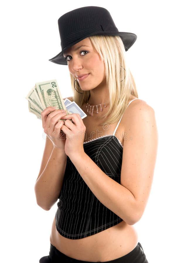 sexig hasardspelare royaltyfria foton
