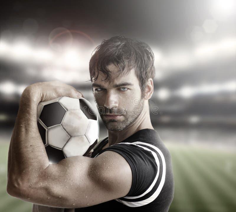 Sexig idrottsman nen fotografering för bildbyråer