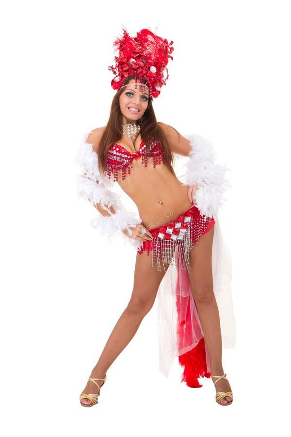 sexig karnevaldansare royaltyfri bild