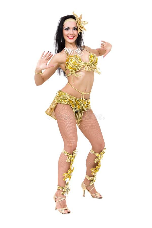 Sexig karnevaldansare royaltyfria bilder