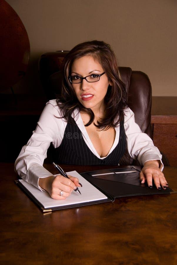 sexig kvinna för affär royaltyfri bild