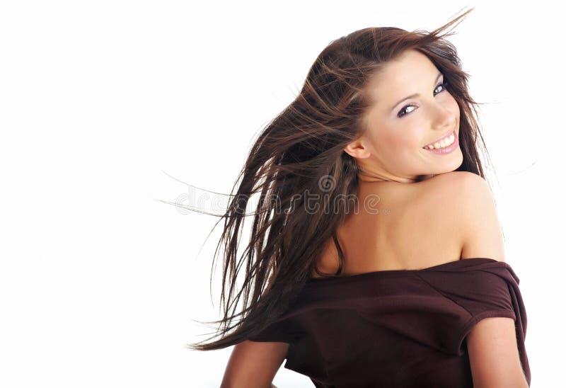sexig kvinna för glamourstående royaltyfri fotografi