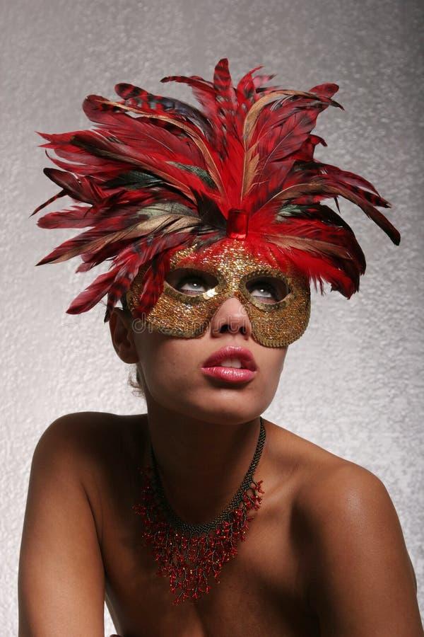 sexig kvinna för maskering royaltyfri bild