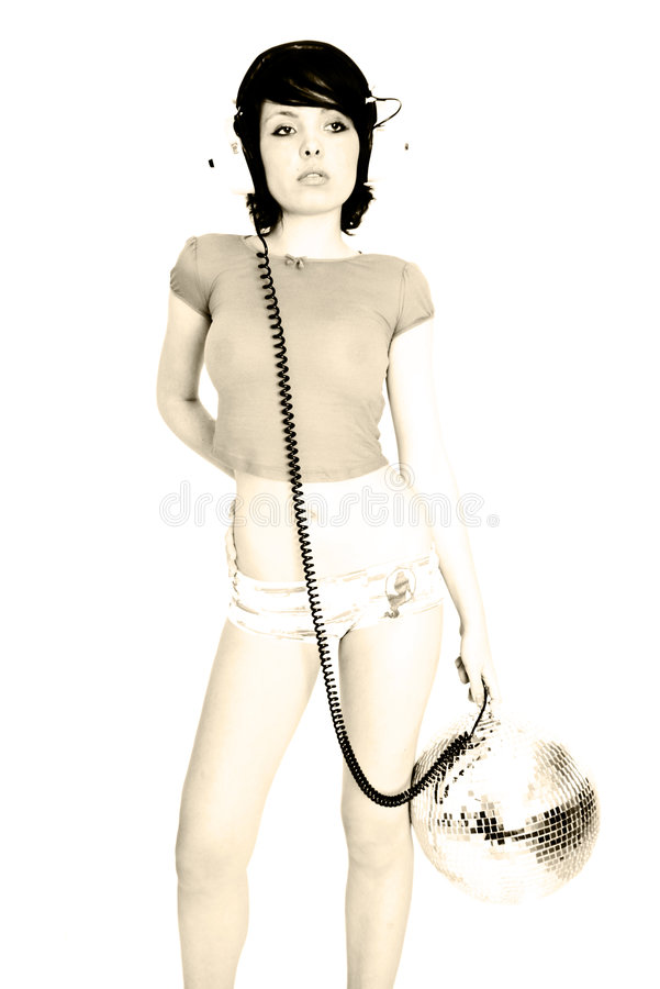 sexig kvinna för musik royaltyfri foto