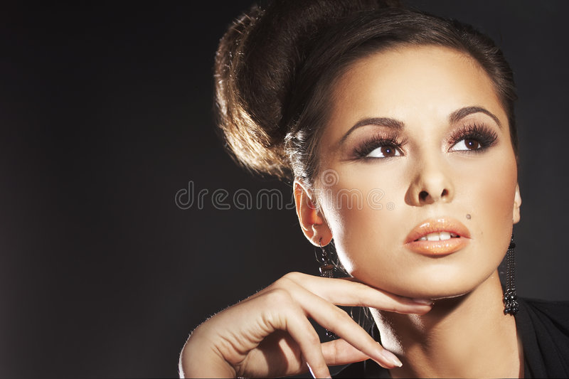 sexig modemodell arkivfoto
