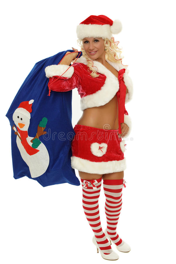 Sexig mrs Santa Claus arkivbild