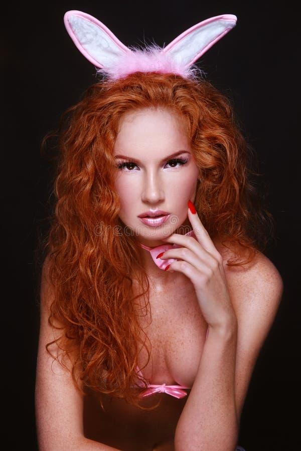 Sexig redhead royaltyfria foton