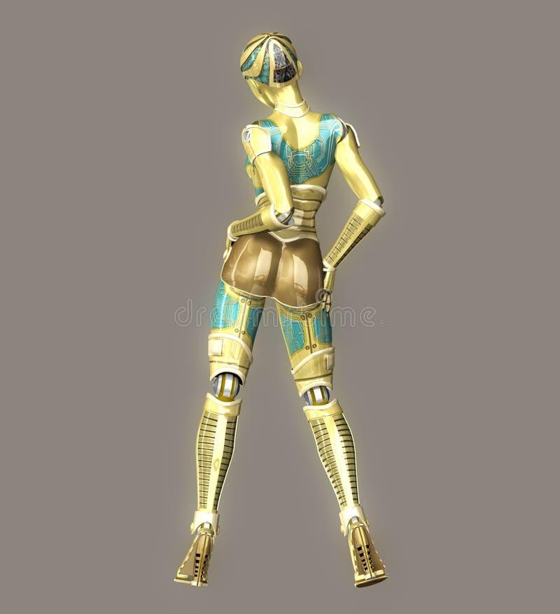 sexig robot royaltyfri illustrationer
