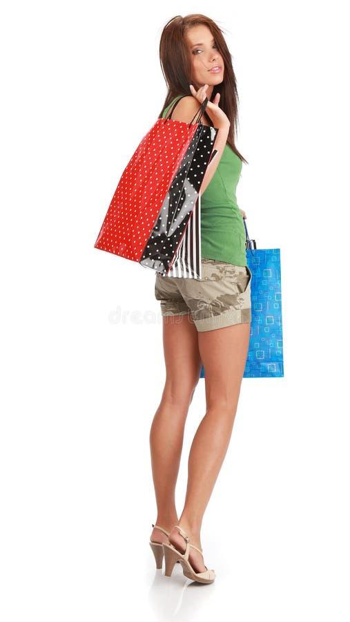 sexig shopping för flicka arkivfoton