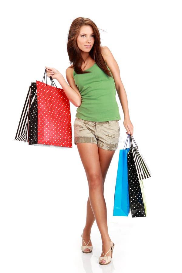 sexig shopping för flicka arkivbilder