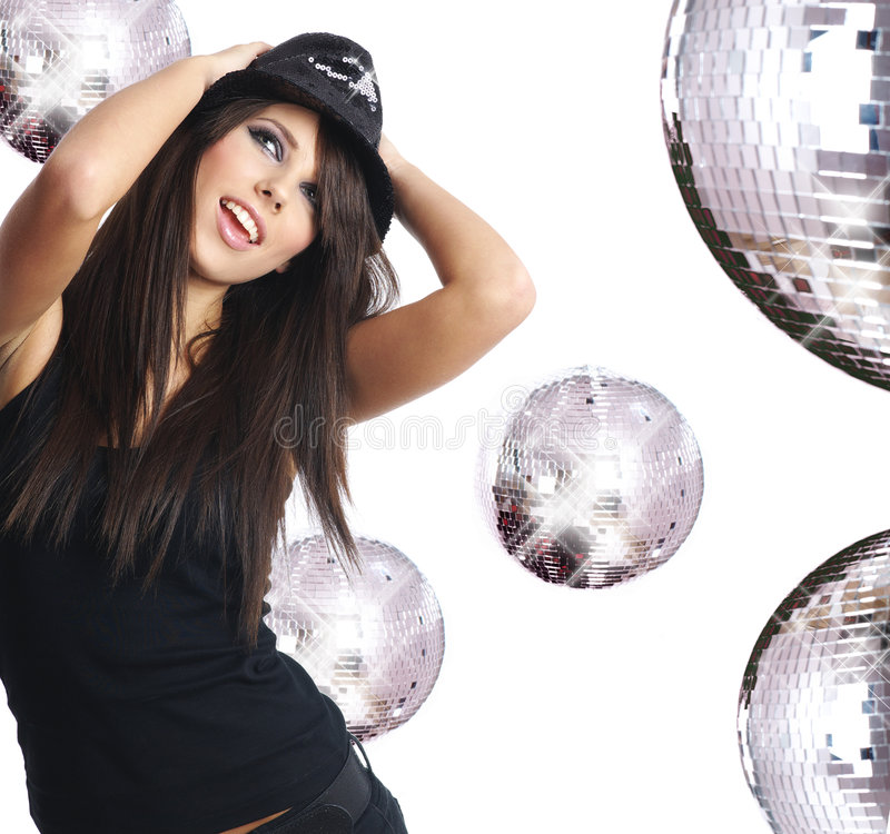 sexig showgirl arkivfoto