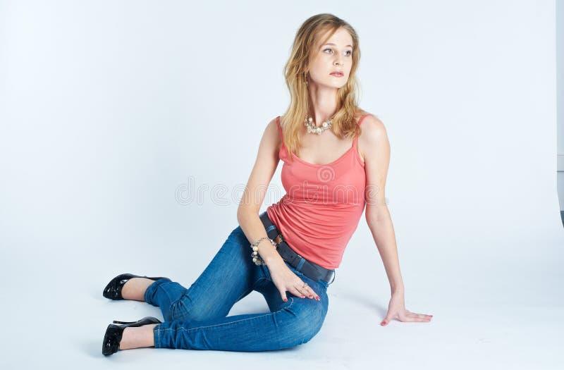sexig slank kvinna royaltyfri bild