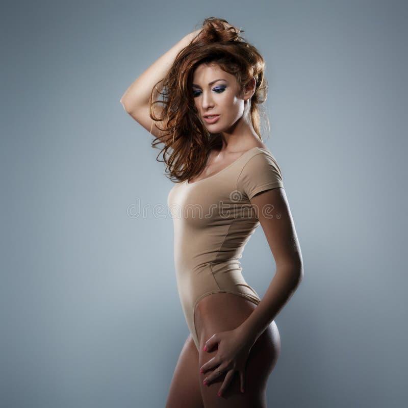 Sexig slank kvinna arkivfoton