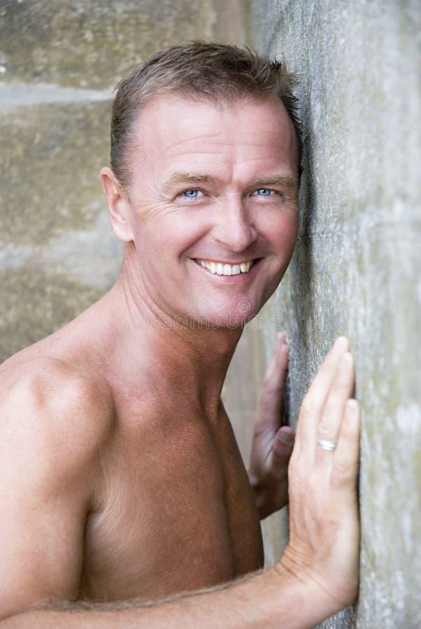 sexig stilig man för forties royaltyfri fotografi