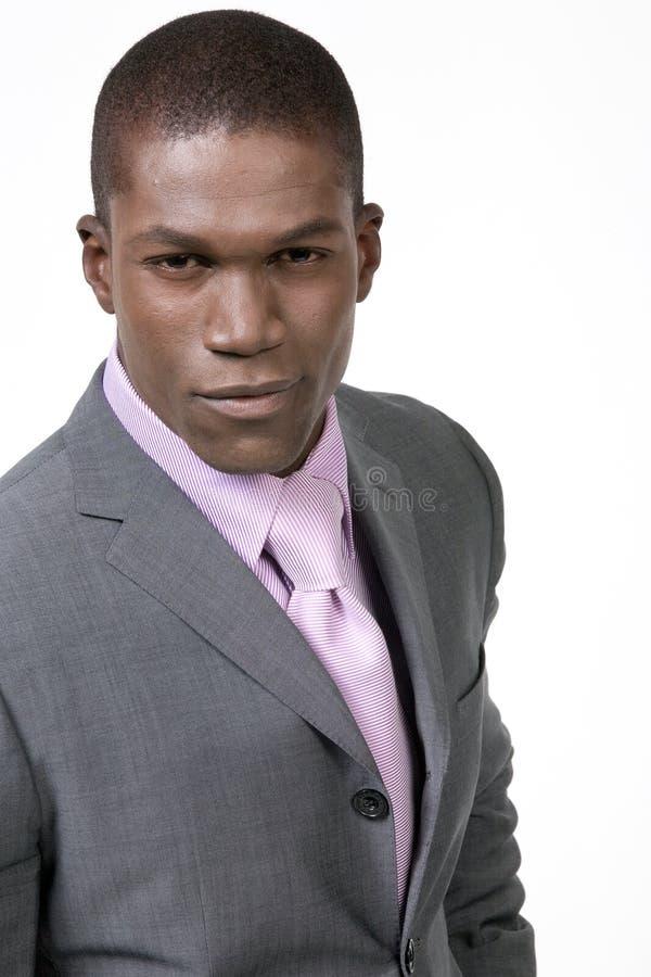 sexig svart man royaltyfri bild