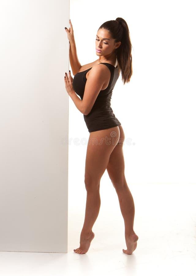 sexig voluptuous kvinna för body arkivfoto