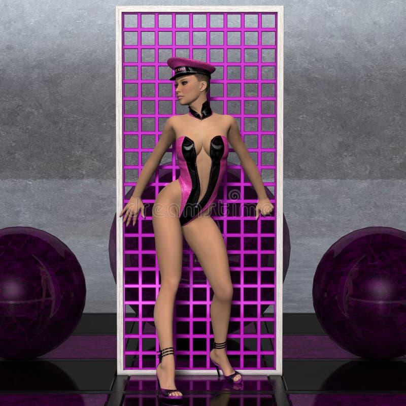sexig wear för attraktiv flicka för begreppsfetisch framtida royaltyfria bilder