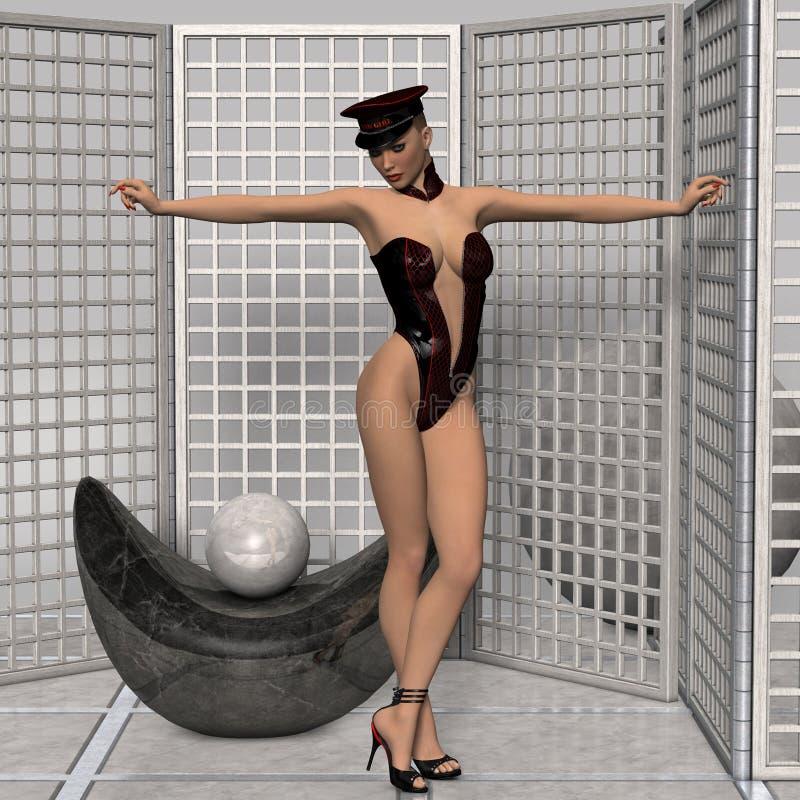sexig wear för attraktiv flicka för begreppsfetisch framtida royaltyfri fotografi