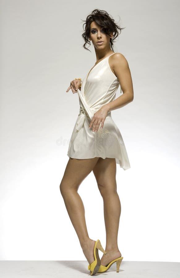 sexig white för lady arkivbilder