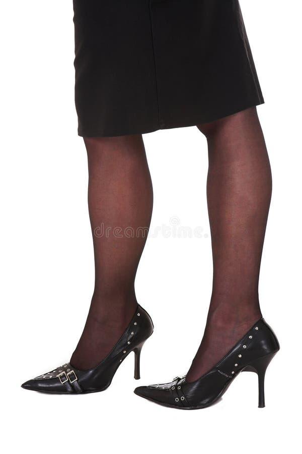 sexiga affärskvinnaben royaltyfri foto