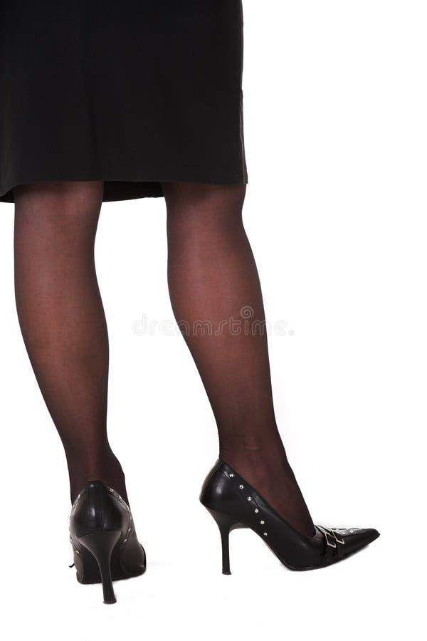 sexiga affärskvinnaben arkivfoton