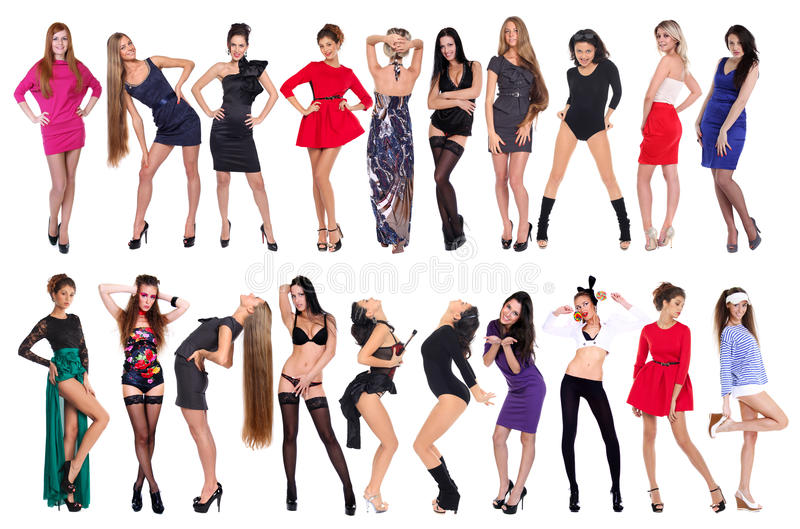 Sexiga 20 modeller royaltyfri bild