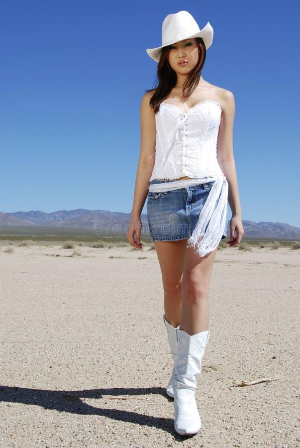 sexigt gå för cowgirl royaltyfri fotografi