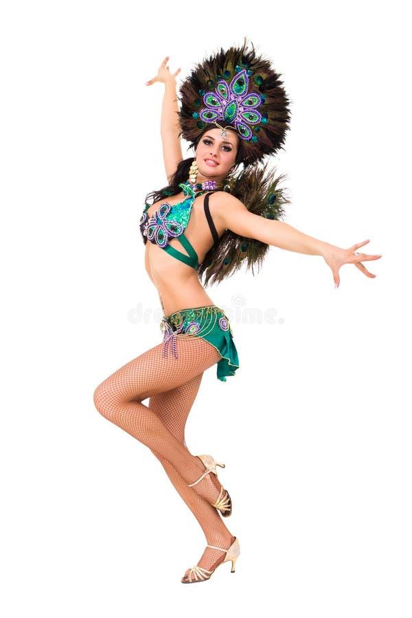 Sexigt posera för karnevaldansare royaltyfri foto