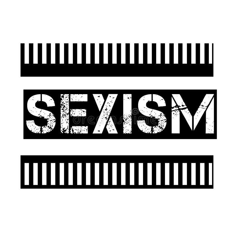 SEXISMUS-Stempel auf Wei? stock abbildung