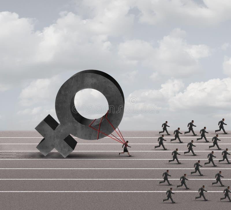 Sexismus-Unterscheidung stock abbildung