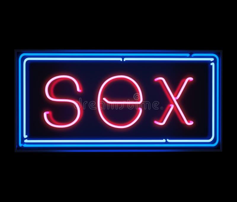Sexleuchtreklame stockfoto