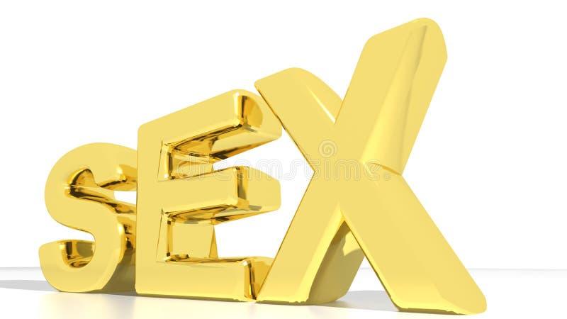 SEXO dourado ilustração do vetor