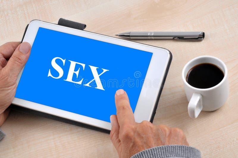 Sexo online imagens de stock