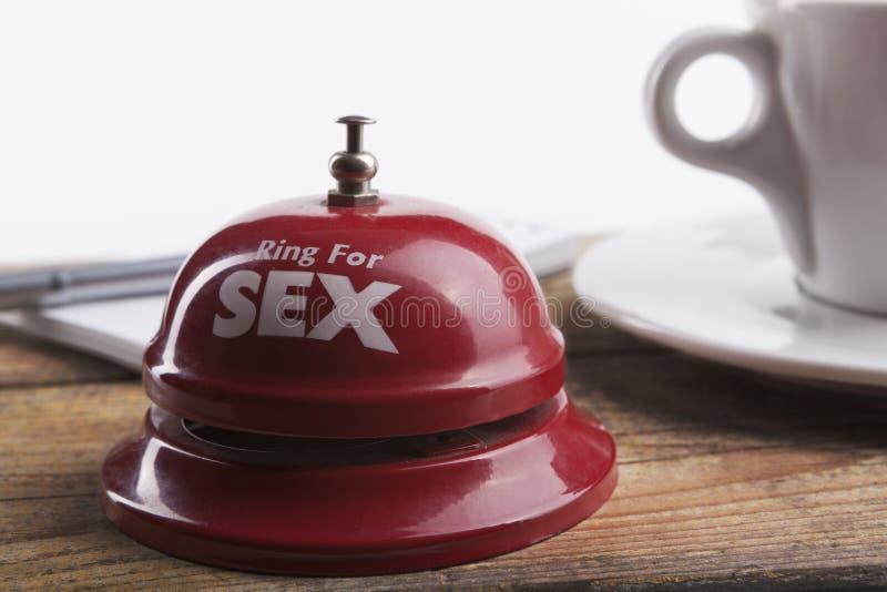 Sexo y café imagen de archivo libre de regalías