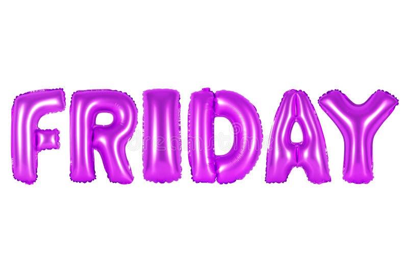 Sexta-feira, cor roxa imagem de stock