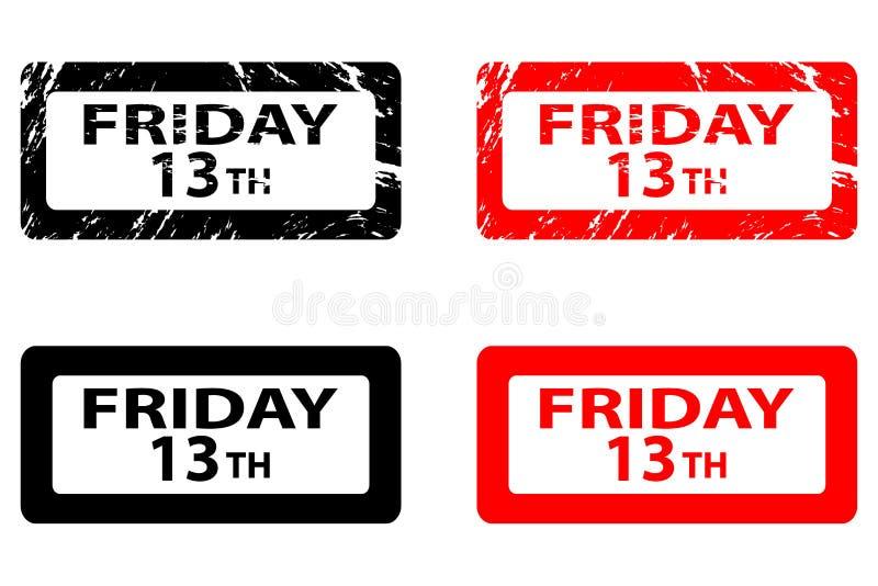Sexta-feira o 1ó ilustração stock