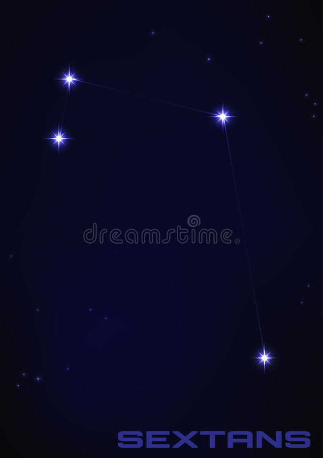 Sextans constellation royalty free illustration