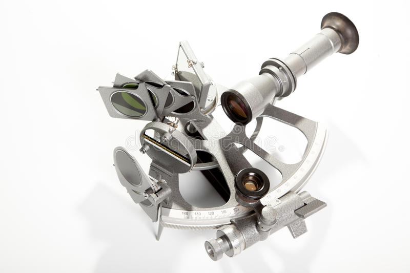 Download Sextant On White Background Stock Photo - Image of optically, course: 26810458